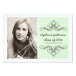 Elegant Swirl Modern Vintage Photo Graduation Mint 13 Cm X 18 Cm Invitation Card