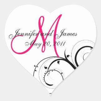 Elegant Swirl Monogram Wedding Favour Labels