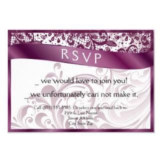 Elegant Swirl RSVP Card 3.5x5 9 Cm X 13 Cm Invitation Card