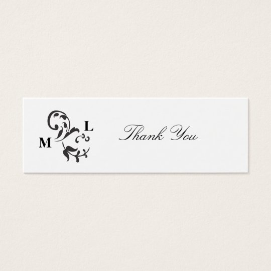 Elegant Swirl Wedding Favour Thank You Tags