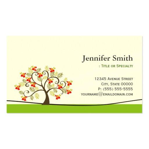 Elegant Swirl Wish Tree Symbol - Appointment Business Card Template
