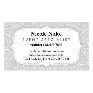 Elegant Swirls Event Specialist Business Card