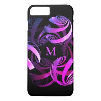 Elegant swirls monogram iPhone 8 plus/7 plus case