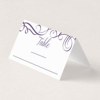 Elegant Swirls Place Card Template