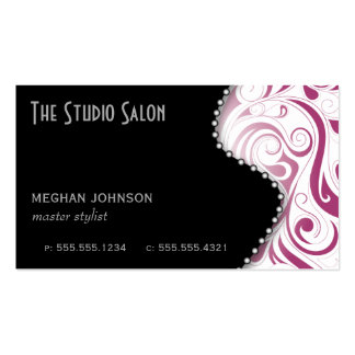 Elegant Swirly Appointment Business Card Fuchsia