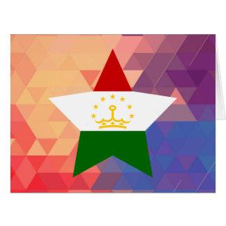 Elegant Tajikistan flag heart Big Greeting Card
