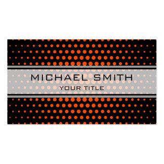 Elegant Tangelo Polka Dot Pattern Pack Of Standard Business Cards