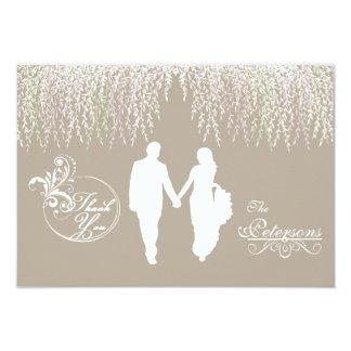 Elegant Taupe Wedding Thank You Note Cards 9 Cm X 13 Cm Invitation Card