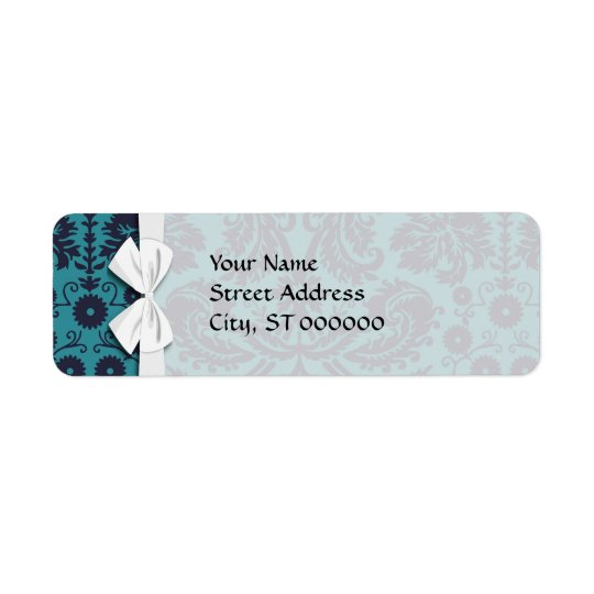 elegant teal blue and midnight damask