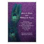 Elegant Teal Blue and Purple Peacock Wedding
