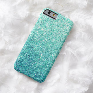 Elegant Teal Glitter Luxury iPhone 6 Case