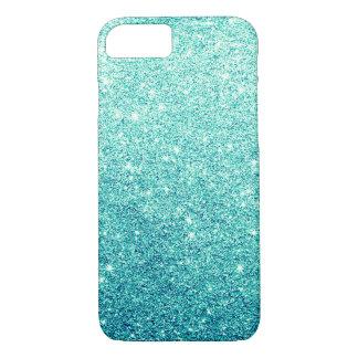 Elegant Teal Glitter Luxury iPhone 7 Case