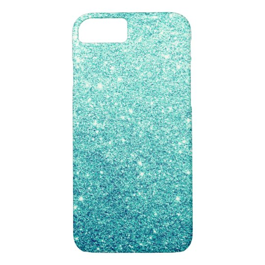 Elegant Teal Glitter Luxury iPhone 7 Case
