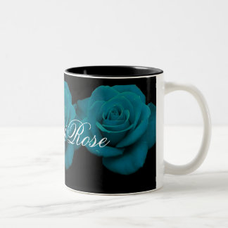 Elegant Teal Rose Coffee Mug