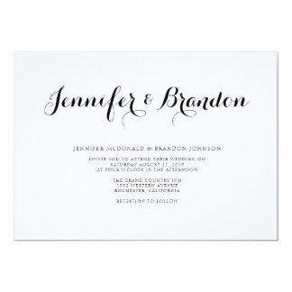 Elegant text wedding invitation
