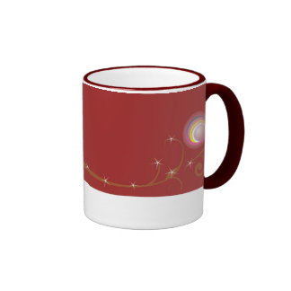 elegant texture with bright beads mug