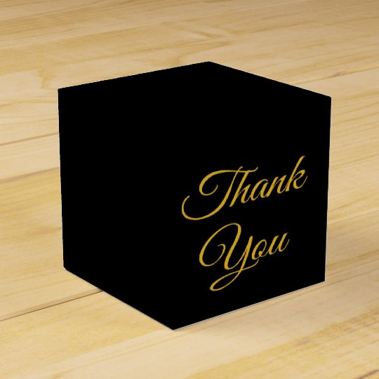 Elegant Thank You Black And Gold Gift /