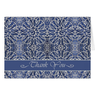 Elegant Thank You Card in Blue, All Purpose Card