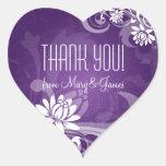 Elegant  Thank you  Floral Swirls Purple