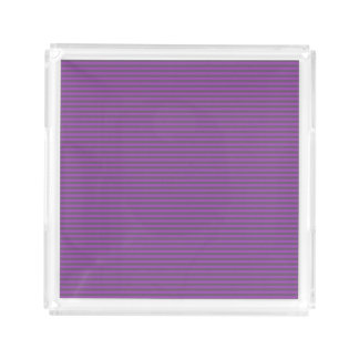 Elegant Thin Plum Purple Colored Stripes Acrylic Tray