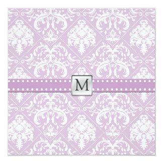 Elegant Thistle Purple and white vintage damask Card