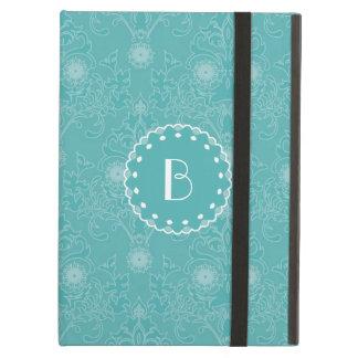 Elegant Tiffany Damask Pattern with Monogram iPad Air Cover