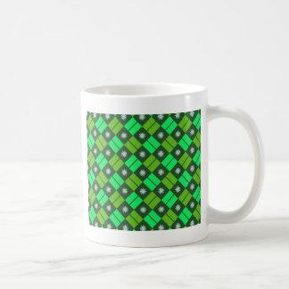 Elegant Tile Pattern Basic White Mug