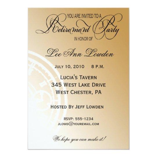 Elegant, Timeless Retirement Party Invitation