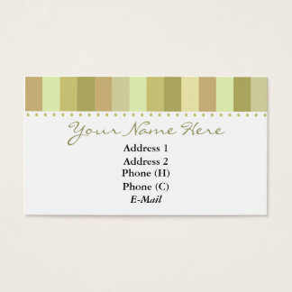 Elegant Top Stripes Business Card