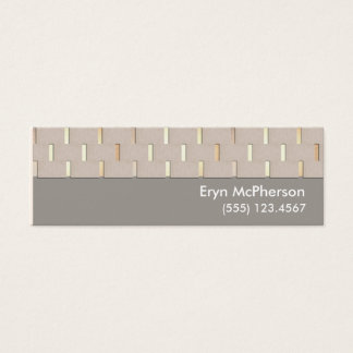 Elegant Tranquility Mini Business Card