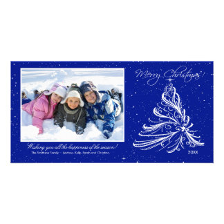 Elegant Tree Family Christmas Photo Card