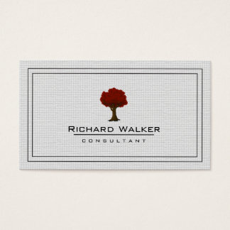 Elegant Tree Garden Lawn Care Logo Landscape Business Card