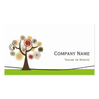 Elegant Tree of Life - Clean Green Stylish Business Cards