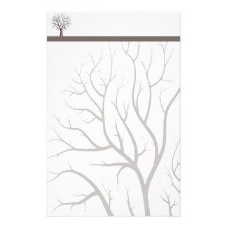 Elegant Tree Stationery with Letterhead