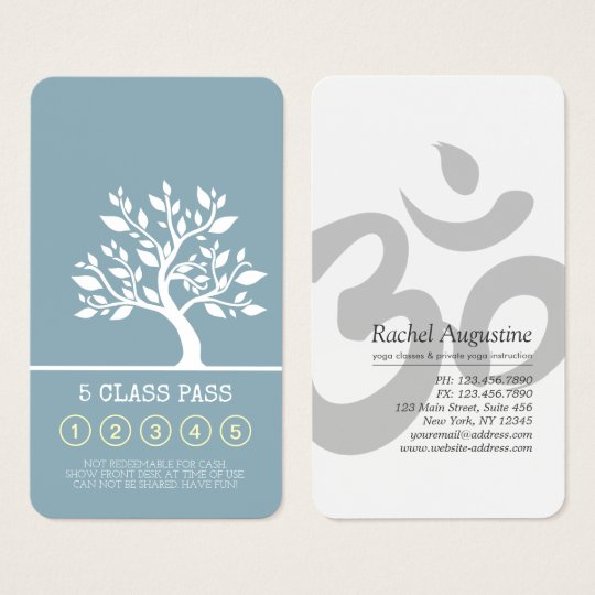 Elegant Tree Yoga Instructor Class Pass Loyalty Business