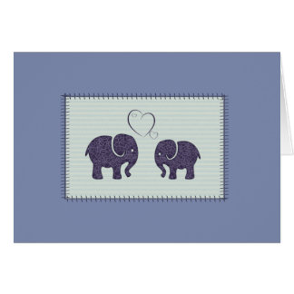 Elegant trendy cute elephants in love card