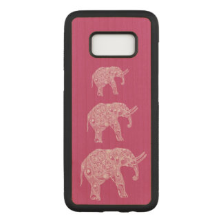 Elegant trendy girly cute elephants carved samsung galaxy s8 case