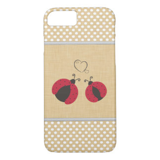 elegant trendy girly cute ladybugs polka dots iPhone 8/7 case