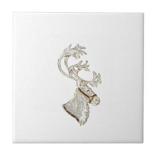 Elegant trendy holiday Christmas reindeer winter Ceramic Tiles