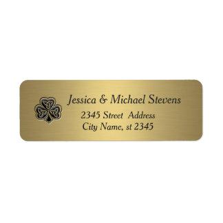 Elegant trendy lucky Irish shamrock gold
