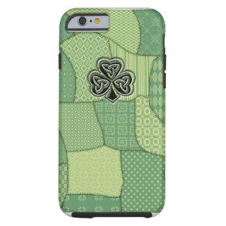 Elegant trendy lucky Irish shamrock patchwork Tough iPhone 6 Case