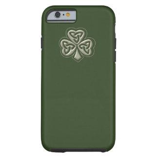 Elegant trendy lucky Irish shamrock Tough iPhone 6 Case