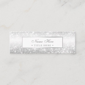 Elegant Trendy Luxe Silver Mini Business Card
