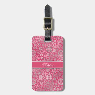 Elegant trendy paisley floral pattern illustration tags for bags
