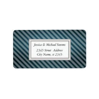 Elegant trendy vintage diagonal narrow stripes address label
