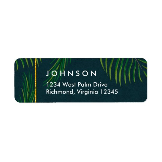 Elegant Tropical Return Address Labels