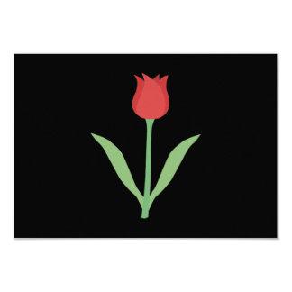 Elegant Tulip Design on Black. Card