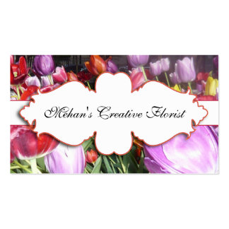 Elegant Tulips Floral Photography Bisness Card Double-Sided Standard Business Cards (Pack Of 100)