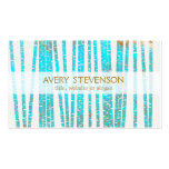 Elegant Turquoise Blue Bamboo Nature Health Spa Pack Of Standard Business Cards