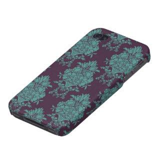 Elegant Turquoise French Damask iPhone 4 Cover